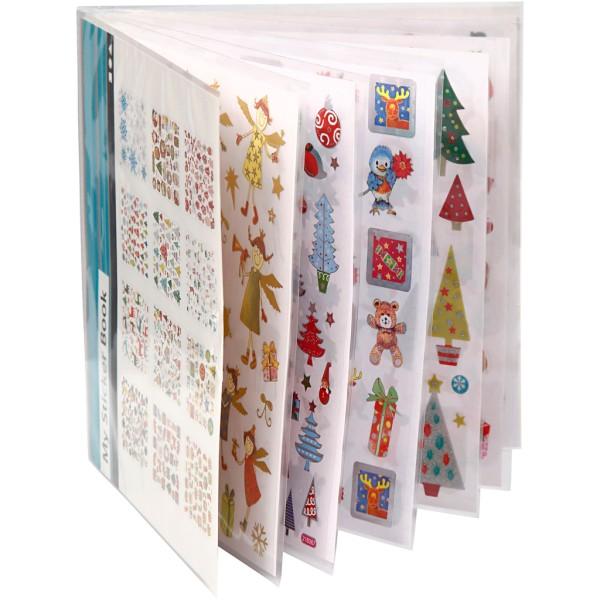 Carnet de stickers pailletés - Noël - 584 pcs - Photo n°3