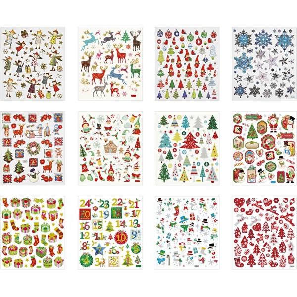 Carnet de stickers pailletés - Noël - 584 pcs - Photo n°1