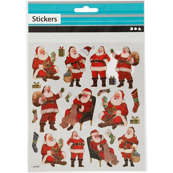 Stickers fantaisies - Père Noël - 22 pcs - Photo n°2