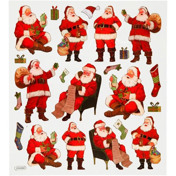 Stickers fantaisies - Père Noël - 22 pcs - Photo n°1
