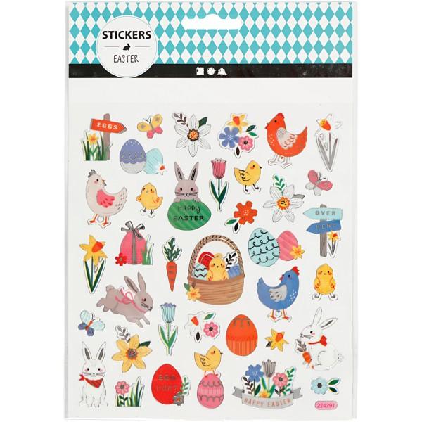 Stickers - Mix de Pâques - 15 x 16,5 cm - 37 pcs - Photo n°2