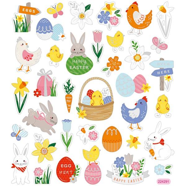 Stickers - Mix de Pâques - 15 x 16,5 cm - 37 pcs - Photo n°1