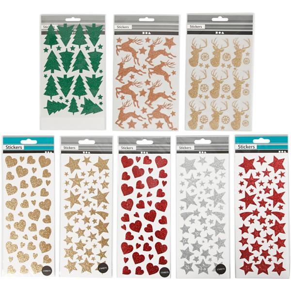 Set de stickers pailletés - 8 feuilles - env. 579 pcs - Photo n°2