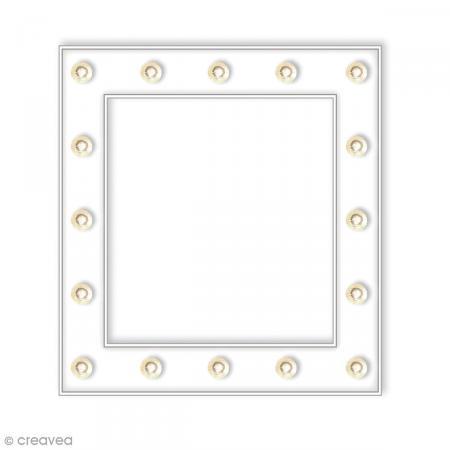 cadre lumineux led 26 x 26 cm lettre lumineuse led creavea. Black Bedroom Furniture Sets. Home Design Ideas