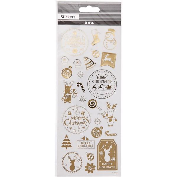 Stickers fantaisie dorés - Noël - 26 pcs - Photo n°2