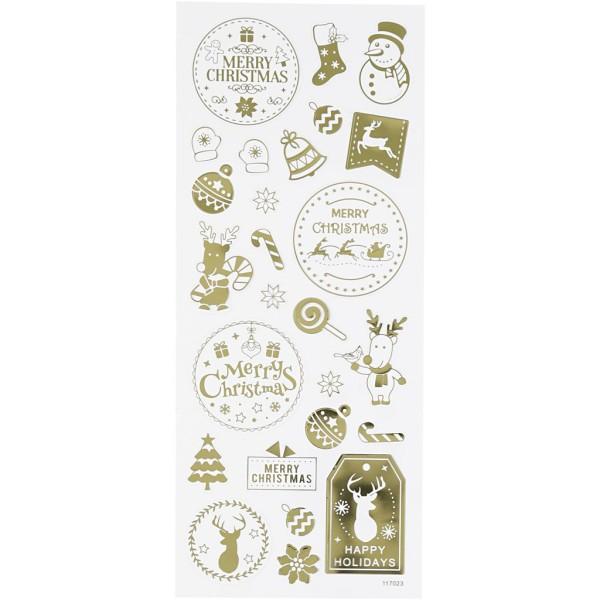 Stickers fantaisie dorés - Noël - 26 pcs - Photo n°1