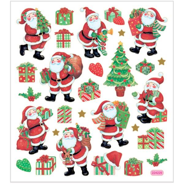 Stickers fantaisies - Père Noël et cadeaux - 29 pcs - Photo n°1