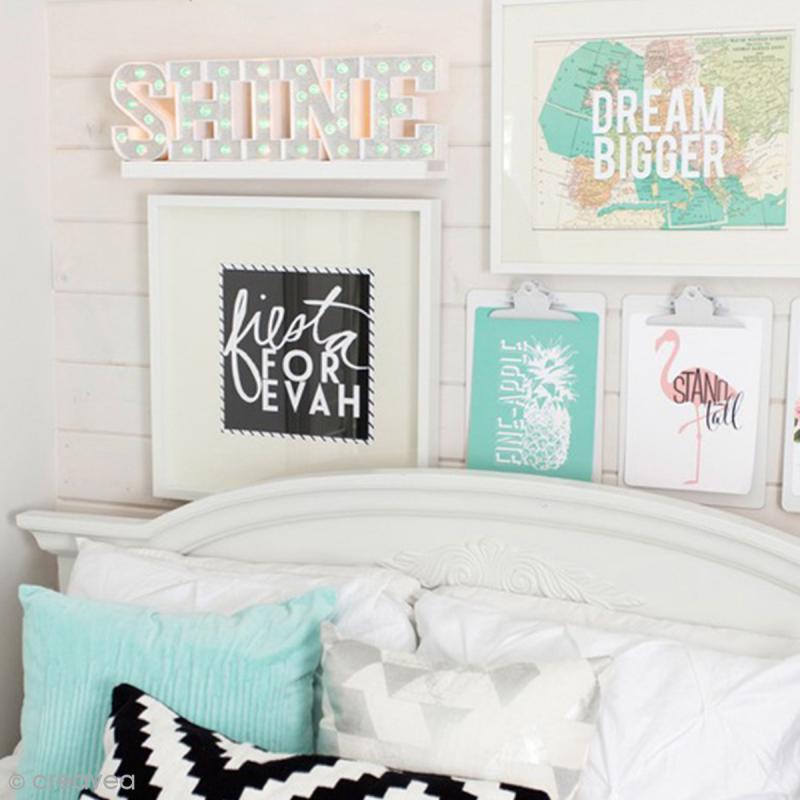 capuchons d 39 ampoules facettes marquee love vert menthe. Black Bedroom Furniture Sets. Home Design Ideas