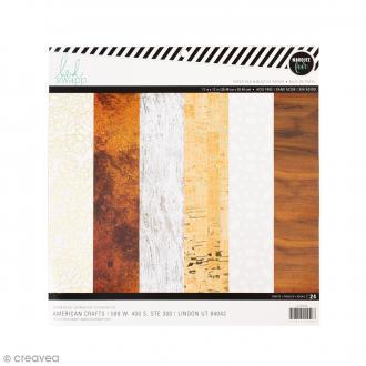 Bloc de papier à motifs Marquee Love - 30 feuilles de 30,5 x 30,5 cm