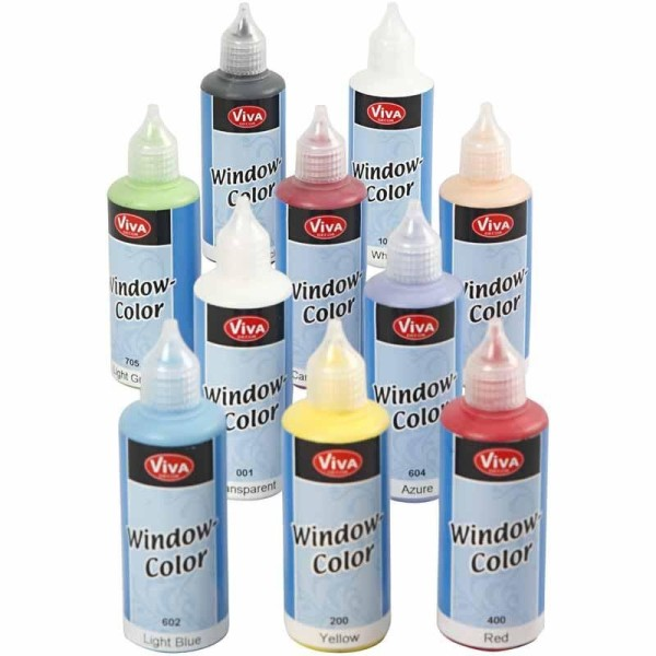 Assortiment de peintures sur fenêtre Window Color - 80ml - 10 pcs - Photo n°1