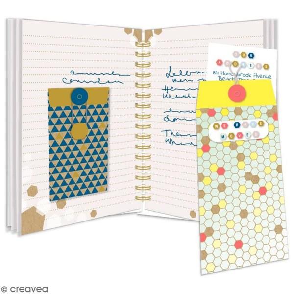 Enveloppe cadeau Geometric Kraft avec ficelle - 6 pcs - Photo n°2