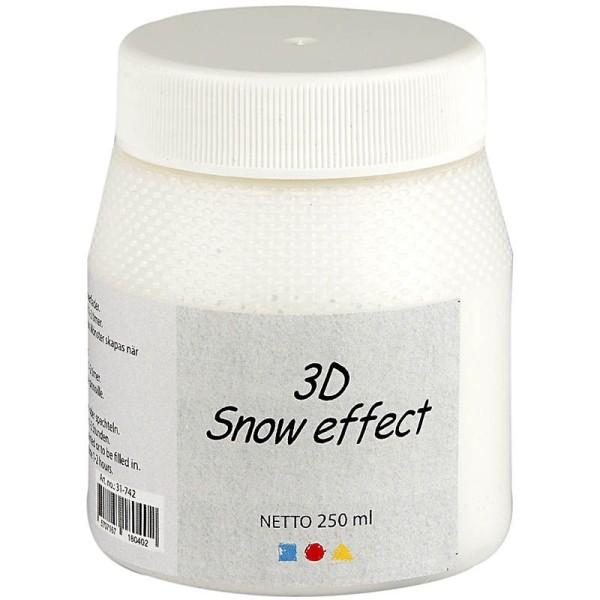 Pâte effet neige mat 3D - 250 ml - Photo n°1