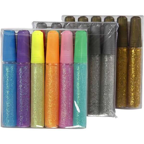 Assortiment de colle à paillettes - 10 ml - 24 pcs - Photo n°2