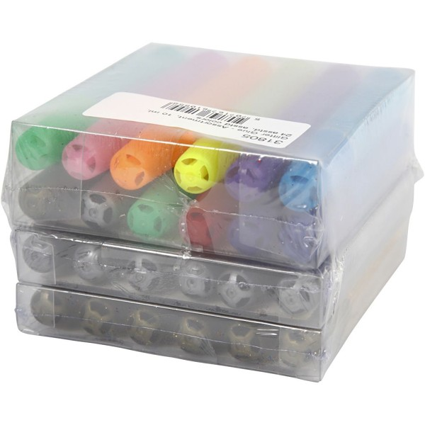 Assortiment de colle à paillettes - 10 ml - 24 pcs - Photo n°3