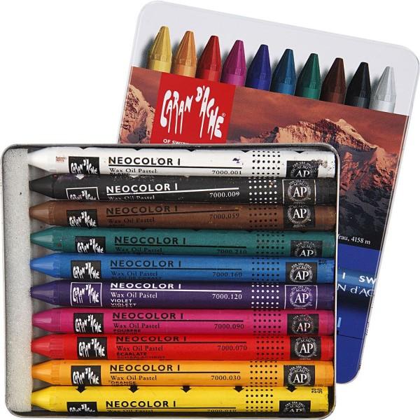 Boîte de crayons de couleur Caran d'Ache - 8 mm - 10 pcs - Photo n°1