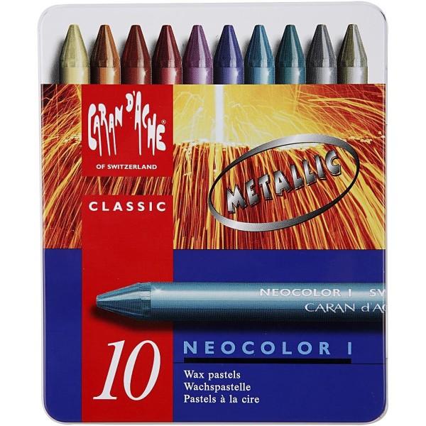 Boîte de crayons Caran d'Ache - couleurs métalliques - 8 mm - 10 pcs - Photo n°2