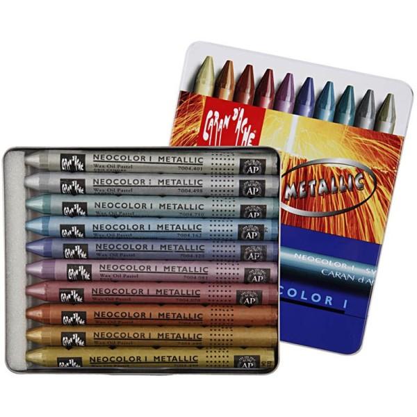 Boîte de crayons Caran d'Ache - couleurs métalliques - 8 mm - 10 pcs - Photo n°1