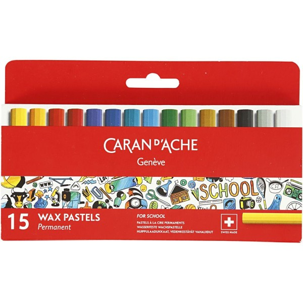Boîte de crayons de couleur Caran d'Ache Junior - 8 mm - 15 pcs - Photo n°2
