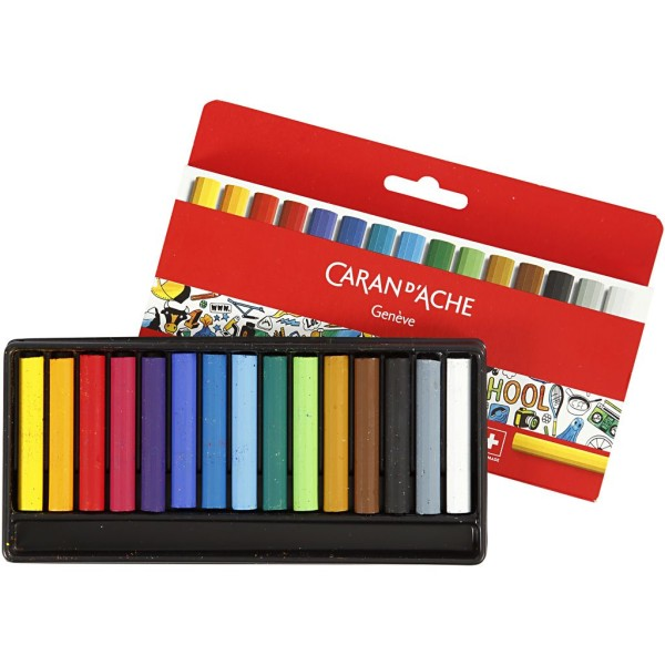 Boîte de crayons de couleur Caran d'Ache Junior - 8 mm - 15 pcs - Photo n°1