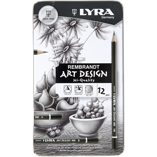 Crayons De Dessin Lyra Art Design - Set, 12Pièces - Photo n°2