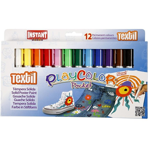 Feutres textile Playcolor - Couleurs Assorties - 12 pcs - Photo n°2
