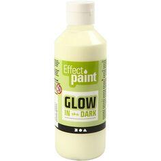 Peinture phosphorescente - Jaune - 250 ml