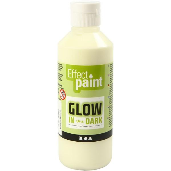 Peinture phosphorescente - Jaune - 250 ml - Photo n°1