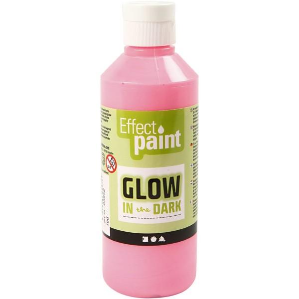 Peinture phosphorescente - Rouge clair - 250 ml - Photo n°1