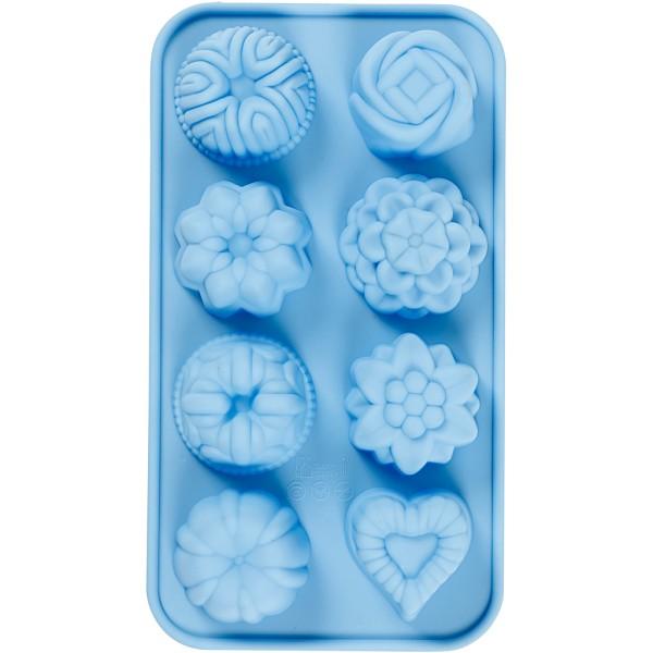 Moule silicone loisirs créatifs - Petits gâteaux - 8 motifs - Photo n°1