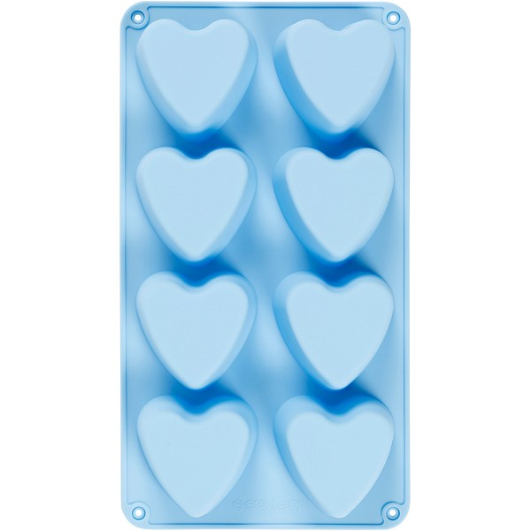 Moule silicone loisirs créatifs - Coeurs - 8 motifs - Photo n°1