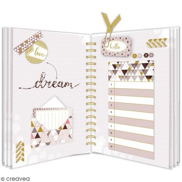 Carnet de notes A5 de 150 pages - Geometric Mocha - Photo n°2
