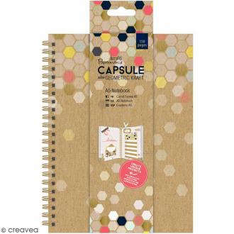Carnet de notes A5 de 150 pages - Geometric Kraft