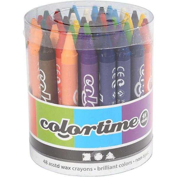 Crayons à la cire - Multicolores - 48 pcs - Photo n°2