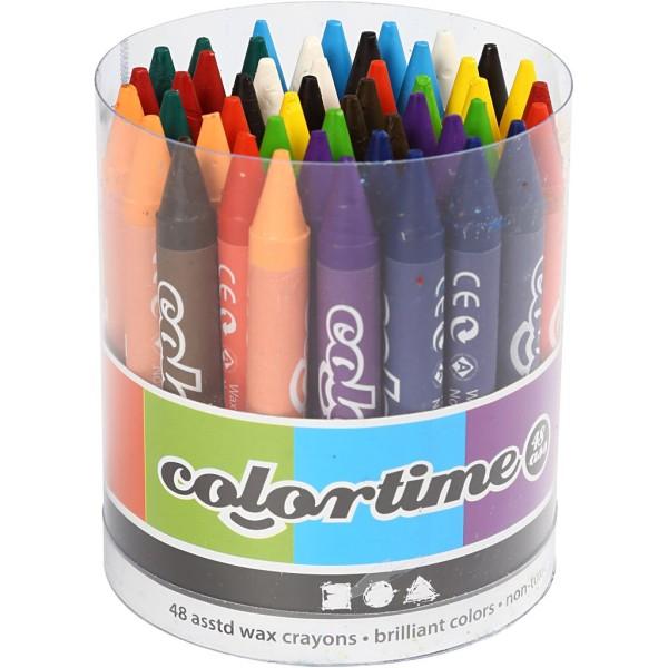 Crayons à la cire - Multicolores - 48 pcs - Photo n°1