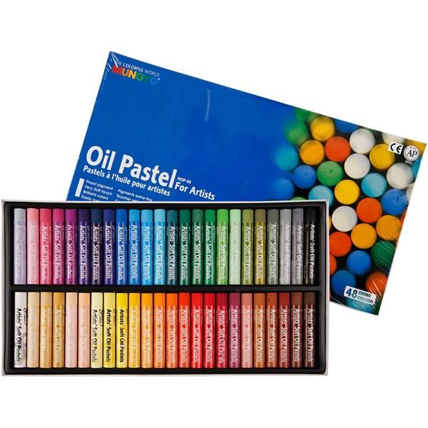 Pastels à l'huile Mungyo - 48 pcs - Photo n°1