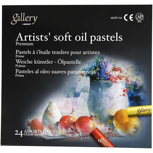 Pastels à l'huile Gallery premium - 24 pcs - Photo n°2