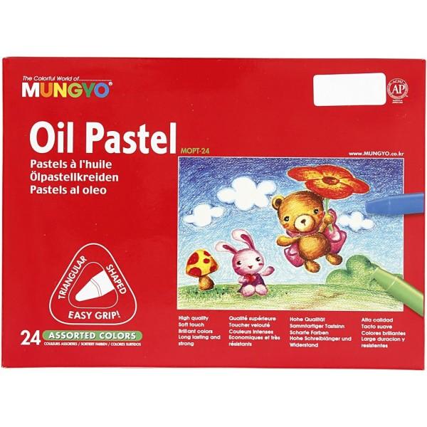 Pastels à l'huile triangulaire - 24 pcs - Photo n°2