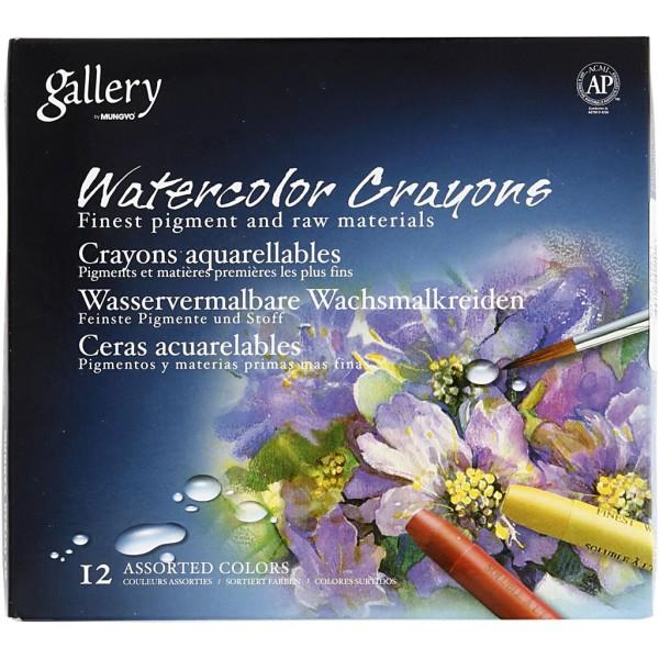 Crayons de cire aquarellables - 12 pcs - Photo n°2