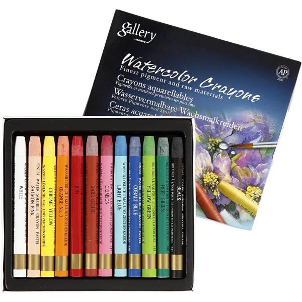 Crayons de cire aquarellables - 12 pcs - Photo n°1