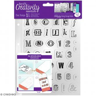 Tampons clear Creativity Essentials - Alphabet - 41 pcs