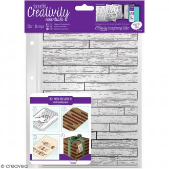 Tampons clear Creativity Essentials - Fond planches de bois - 1 pce