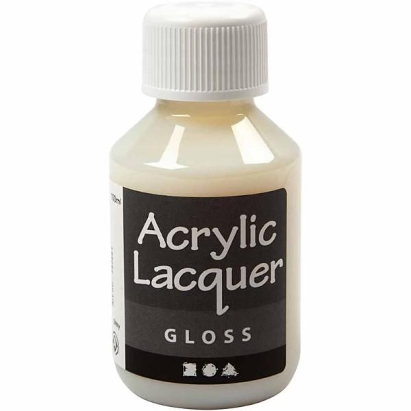 Vernis acrylique - Brillant - 100 ml - Photo n°1