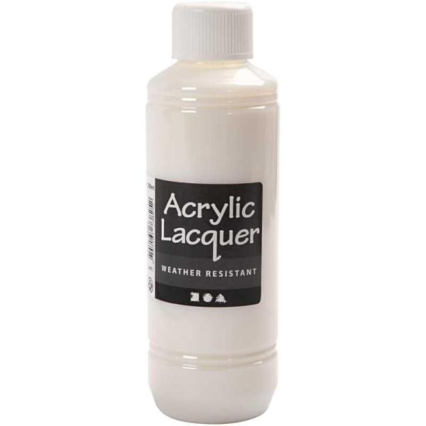 Vernis acrylique - Résistant aux intempéries - 250 ml - Photo n°2