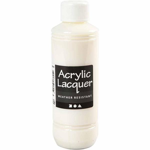 Vernis acrylique - Résistant aux intempéries - 250 ml - Photo n°1