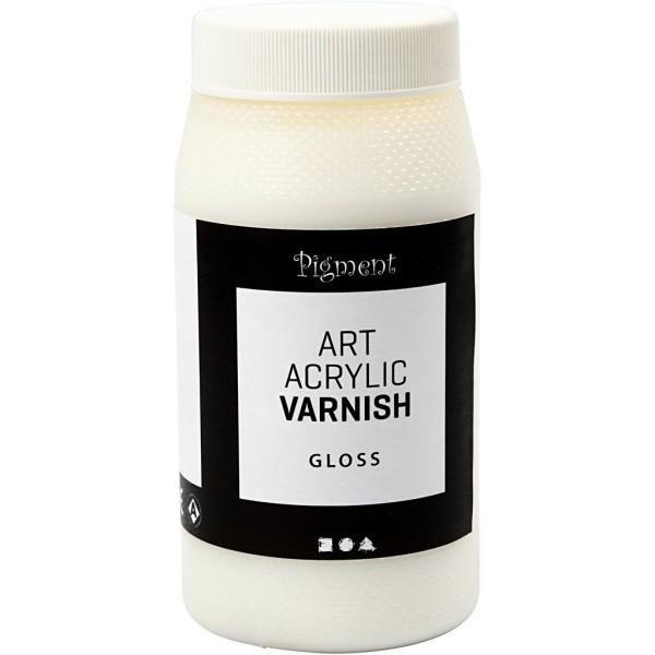 Vernis acrylique Brillant - 500 ml - Photo n°1