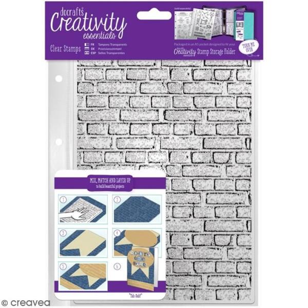 Tampons clear Creativity Essentials - Fond mur de briques - 1 pce - Photo n°1