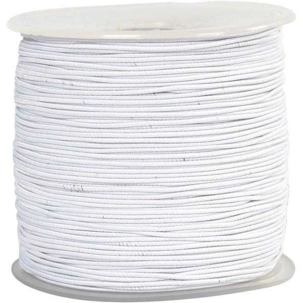 Cordon élastique - Blanc - 1 mm x 250 m - Photo n°1
