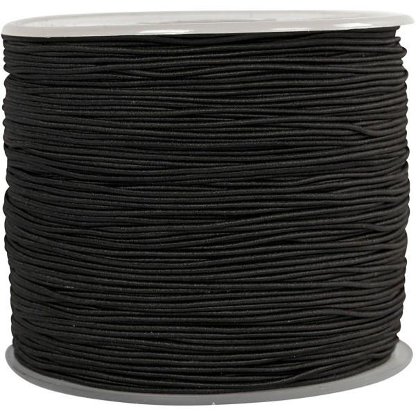 Cordon élastique - Noir - 1 mm x 250 m - Photo n°1