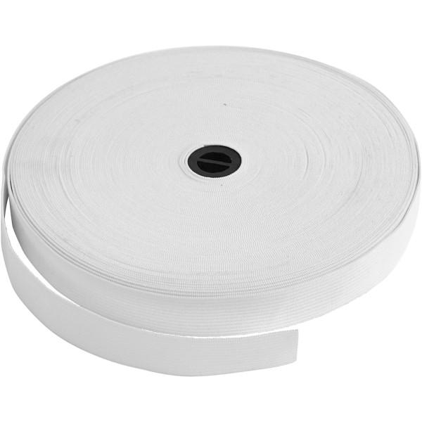 Ruban élastique - Blanc - 20 mm x 25 m - Photo n°1