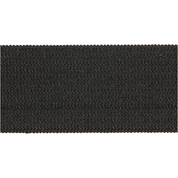 Ruban élastique - Noir - 20 mm x 25 m - Photo n°2